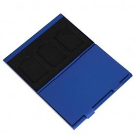 NedRo - Aluminium TF en Micro-SD Geheugenkaart Opbergdoos - SD en USB Memory - AL643-CB www.NedRo.nl