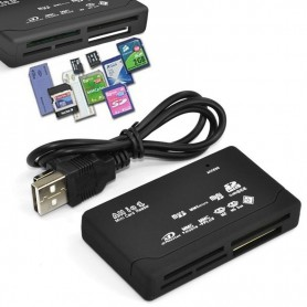 NedRo, Memory Card Reader USB External SD SDHC Mini Micro M2 MMC XD CF, SD and USB Memory, AL644, EtronixCenter.com