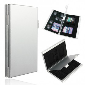 13 in 1 Portable High Quality Aluminum 10 TF 3 for SD Memory Cards Storage Box Case