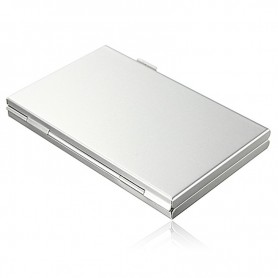 NedRo - 13 in 1 Portable High Quality Aluminum 10 TF 3 for SD Memory Cards Storage Box Case - SD and USB Memory - AL645 www.N...