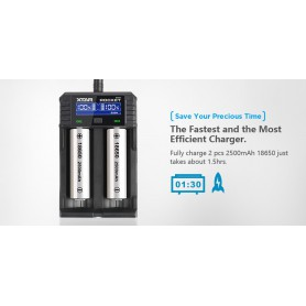 XTAR - XTAR ROCKET SV2 battery charger EU Plug - Battery chargers - NK193 www.NedRo.us