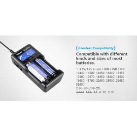 XTAR, XTAR VC2 Plus Master batterij-oplader, Batterijladers, NK194, EtronixCenter.com