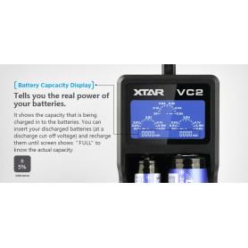 XTAR - XTAR VC2 USB batterij-oplader - Batterijladers - NK198-C www.NedRo.nl