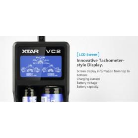 XTAR - XTAR VC2 USB batterij-oplader - Batterijladers - NK198 www.NedRo.nl