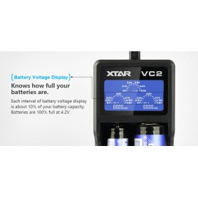 XTAR - XTAR VC2 USB battery charger - Battery chargers - NK198 www.NedRo.us