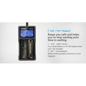 XTAR, XTAR VC2 incarcator baterii USB, Încărcătoare de baterii, NK198, EtronixCenter.com