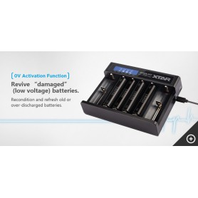 XTAR - Xtar Queen ANT MC6 Li-ion USB batterij-oplader - Batterijladers - NK200-C www.NedRo.nl