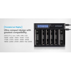 XTAR - Xtar Queen ANT MC6 Li-ion incarcator baterii USB - Încărcătoare de baterii - NK200 www.NedRo.ro