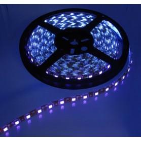 UV Ultraviolet 12V Led Strip 60LED IP65 SMD5050 - White PCB