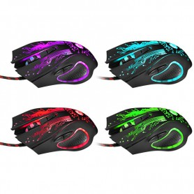 3200DPI LED Optical 6 Buttons 6D USB Wired Gaming Mouse