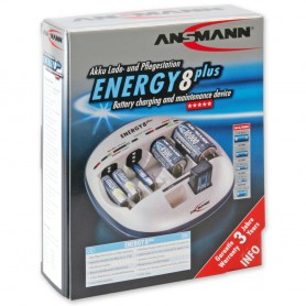 Ansmann, Ansmann Energy 8 plus batterijlader, Batterijladers, Energy8plus, EtronixCenter.com
