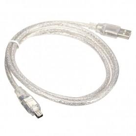 Unbranded - Cablu Firewire la USB 4pin 120cm - Cabluri FireWire - 5191-CB www.NedRo.ro