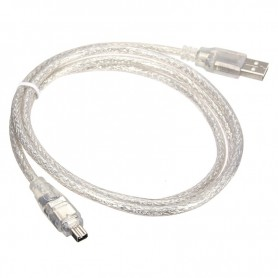 Unbranded, Firewire to USB Cable 4 pin 120cm, FireWire cables, 5191-CB, EtronixCenter.com