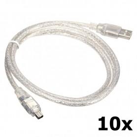 Unbranded - Firewire naar USB 4pin kabel 120cm - FireWire kabels - 5191-CB www.NedRo.nl