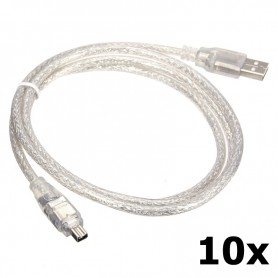Unbranded - Firewire to USB Cable 4 pin 120cm - FireWire cables - 5191-CB