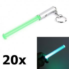 NedRo - Mini LED LightSaber keychain - Flashlights - LED06041-20x www.NedRo.us