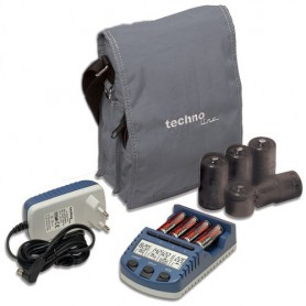 Techno Line, Technoline BC1000 charger (with 4 AA batteries) EU Plug, Battery chargers, BC1000, EtronixCenter.com