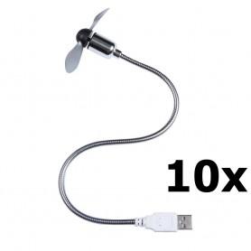 Unbranded - USB Fan Ventilator voor PC en Laptop - Computer gadgets - YPU402-10x www.NedRo.nl