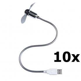 Unbranded - USB Fan for notebook and PC - Computer gadgets - YPU402-10x www.NedRo.us