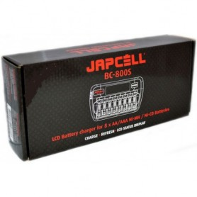 Japcell - 8 channels Japcell BC-800 battery charger - Battery chargers - BC800-C www.NedRo.us