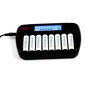 Japcell - 8 kanaals Japcell BC-800 8 batterijenlader - Batterijladers - BC800 www.NedRo.nl