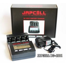 Japcell, 4 kanaals Japcell BC-4001 batterijenlader, Batterijladers, BC4001, EtronixCenter.com