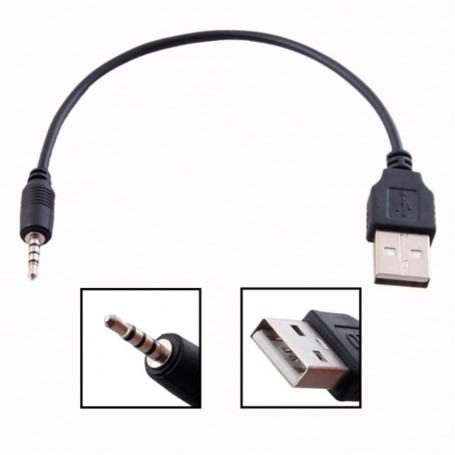 Oem - 2.5mm Audio Jack to USB Cable 25cm - USB to Audio cables - AL996