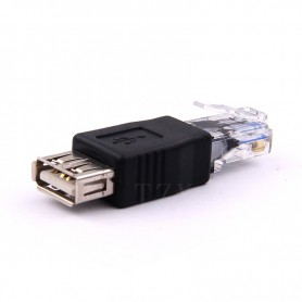 NedRo - RJ45 Male LAN Ethernet naar USB Female Adapter - USB adapters - AL984 www.NedRo.nl