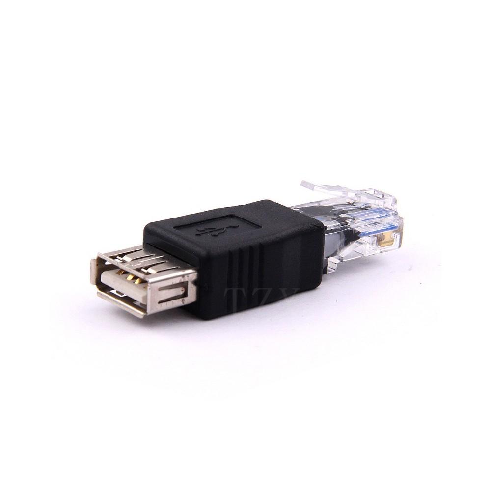NedRo - USB Female naar RJ45 Male LAN Ethernet Adapter - USB adapters - AL984 www.NedRo.nl
