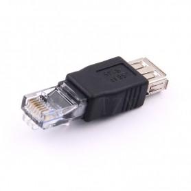 USB Female naar RJ45 Male LAN Ethernet Adapter