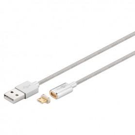 OTB, Goobay Magnetische Micro USB-kabel - zilver, USB naar Micro USB kabels, ON3731, EtronixCenter.com