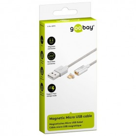 OTB - Goobay Magnetic Micro USB cable - silver - USB to Micro USB cables - ON3731 www.NedRo.us