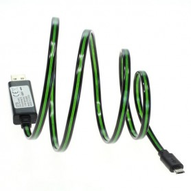 OTB, OTB data cable Micro-USB with animated running light, Diverse datakabels, ON3864-CB, EtronixCenter.com