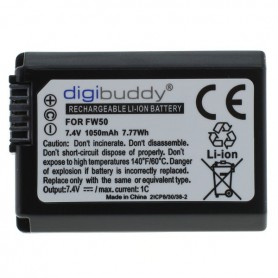 digibuddy - Battery for Sony NP-FW50 1050mAh - Sony photo-video batteries - ON2709 www.NedRo.us