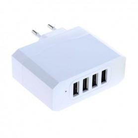4-Portos USB 4.8A Multi adapter Auto-ID - EU Plug