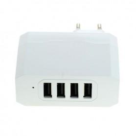 OTB - 4-Portos USB 4.8A Multi adapter Auto-ID - EU Plug - Ac charger - ON3927