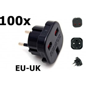 Unbranded - UK to EU Travel Plug - Plugs and Adapters - AC19-100x www.NedRo.us