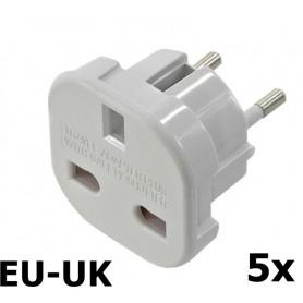 Unbranded - UK naar EU reis stekker adapter - Pluggen en Adapters - AC18-5x www.NedRo.nl