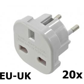 Unbranded - UK naar EU reis stekker adapter - Pluggen en Adapters - AC18-20x www.NedRo.nl
