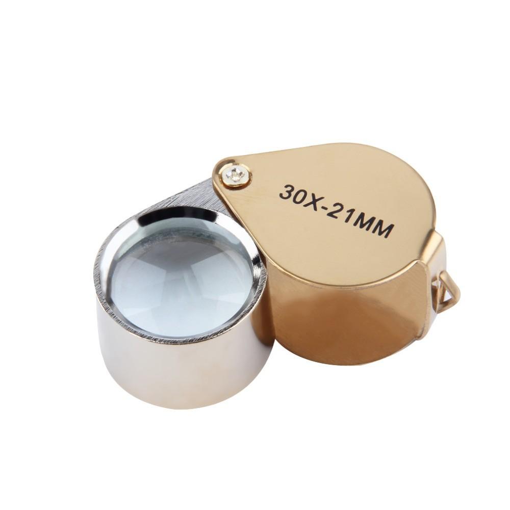 30x-zoom goudkleurig juwelen vergrootglas