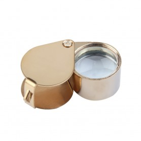 NedRo - 30x-zoom Golden Mini Jewelry Loupe Magnifier Glass - Magnifiers microscopes - AL065 www.NedRo.us