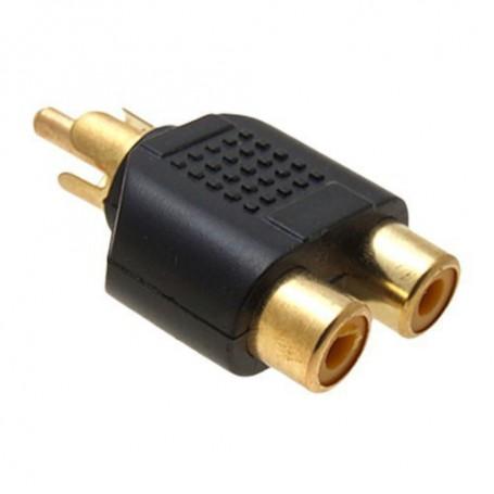 NedRo, RCA Male naar 2 RCA Female Converter, Audio adapters, AL746-CB, EtronixCenter.com