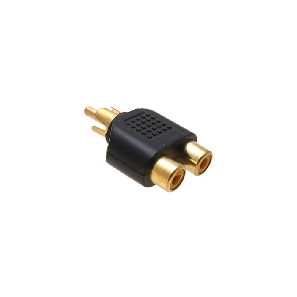 - RCA Male auf 2 RCA Female buchse konverter - Audio adapters - AL746-1x www.NedRo.de