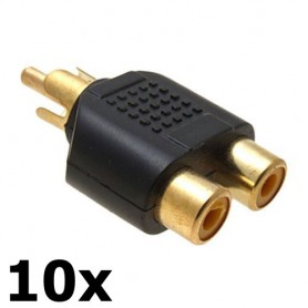- RCA Male naar 2 RCA Female Converter - Audio adapters - AL746-10x www.NedRo.nl