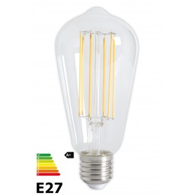 Calex - Vintage LED Lamp 240V 4W 350lm E27 ST64 Clear 2300K Dimmable - Vintage Antique - CA072-CB www.NedRo.us