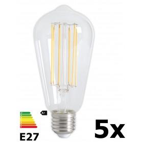 Calex - Vintage LED Lamp 240V 4W 350lm E27 ST64 Helder 2300K Dimbaar - Vintage Antiek - CA072-5x www.NedRo.nl