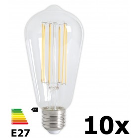 Calex - Vintage LED Lamp 240V 4W 350lm E27 ST64 Clear 2300K Dimmable - Vintage Antique - CA072-10x www.NedRo.us