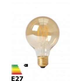Calex, Vintage LED Lamp 240V 4W 320lm E27 GLB80 GOLD 2100K Dimmabil, Vintage Antic, CA073-CB, EtronixCenter.com