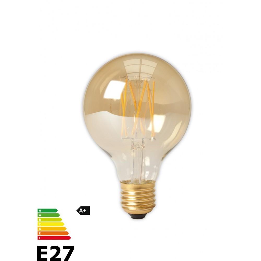 Calex - Vintage LED Lamp 240V 4W 320lm E27 GLB80 GOLD 2100K Dimbaar - Vintage Antiek - CA073-1x www.NedRo.nl