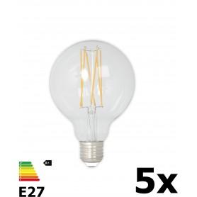 Calex - Vintage LED Lamp 240V 4W 350lm E27 GLB80 Helder 2300K Dimbaar - Vintage Antiek - CA074-5x www.NedRo.nl